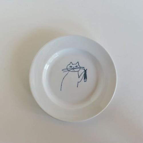 【トラネコボンボン 】猫の丸皿(小)