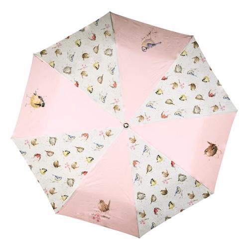 BR004 折りたたみ傘 可愛い鳥たち