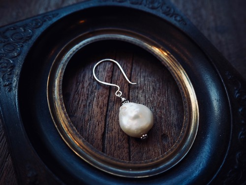 FRANCE Earrings Pearl& 925 Silver