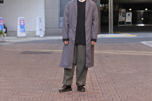 【maillot】mature wool labo coat