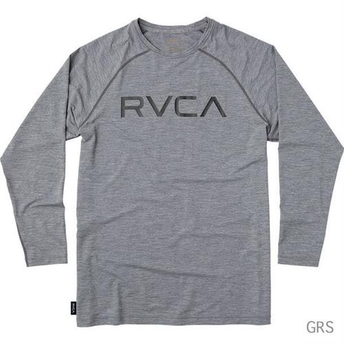 RVCA メンズ MICRO MESH LS TEE ラッシュガード グレイ
