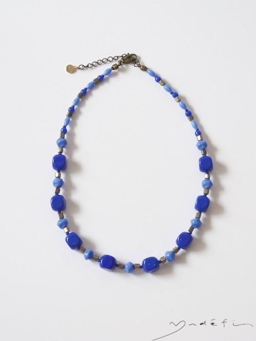 yn028_ヴィンテージ・ネックレス<Blue>