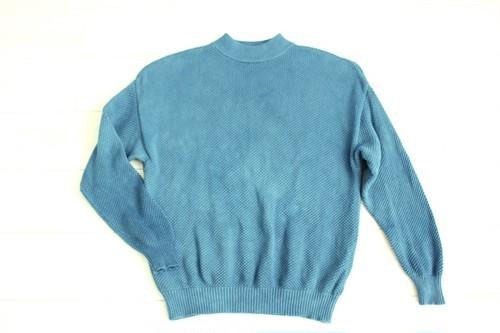 ◇天然藍 藍染◇ コットン100%♪さわやかセーター(Lサイズ)