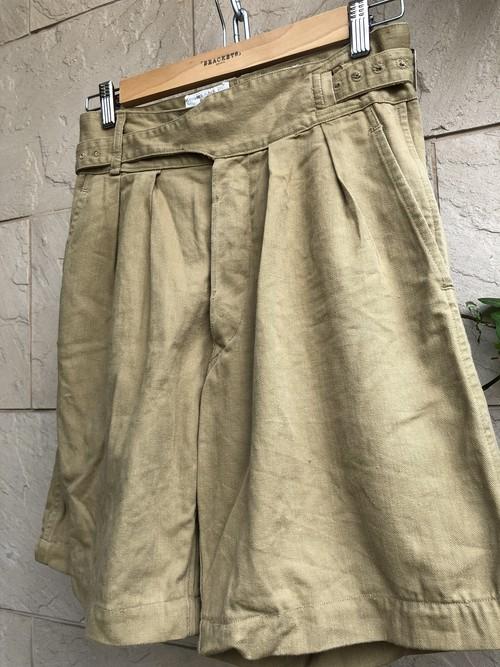 Old British military khaki Gurkha shorts 1