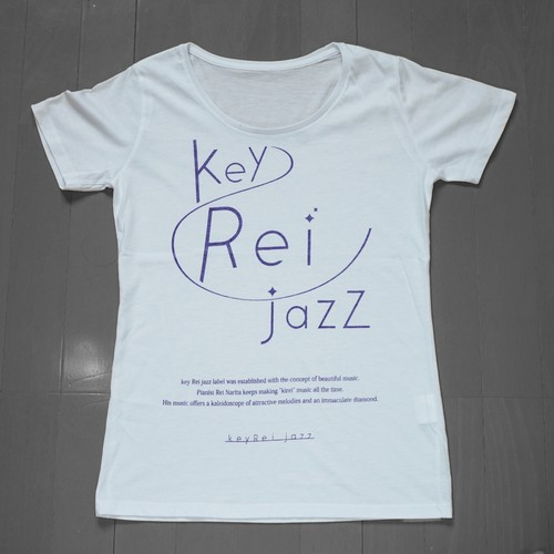 key Rei jazz T-shirts 半袖 白×紫ラメ