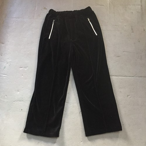 KIIT  c/e heavy velour half zip jersey pants  BLACK