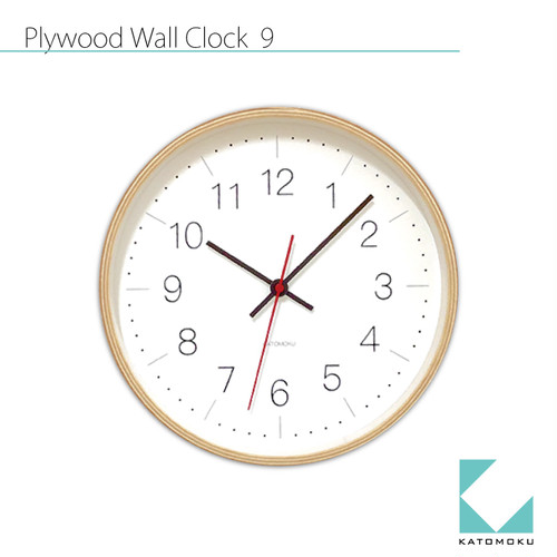 KATOMOKU plywood wall clock 9 km-75N
