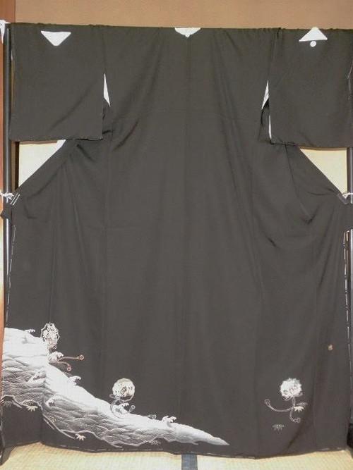 ~白波~京友禅黒留袖☆レンタル一式全部揃っております。