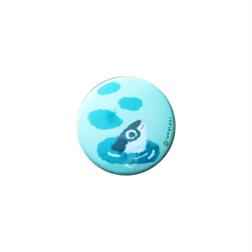 【 ヤマサキ堂 】 台湾モチーフ 缶バッチ(小)サバヒー(水色)