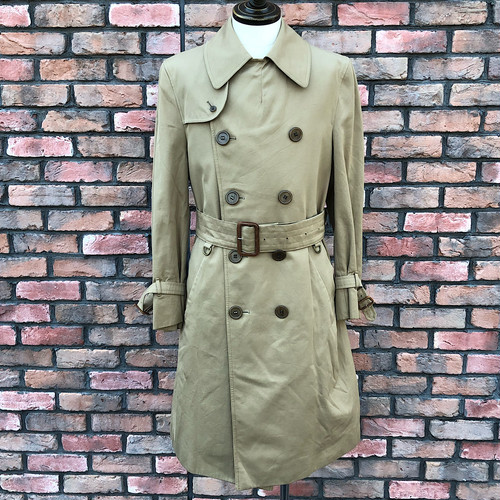 1970s Aquascutum Aqua5  Trench Coat UK40 Reg Made In England