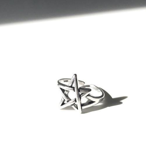 AR1009 - 925 Open Ring - Star