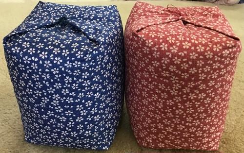 サイコロ枕 日本製 手造り 和柄 テレビ枕 クッション