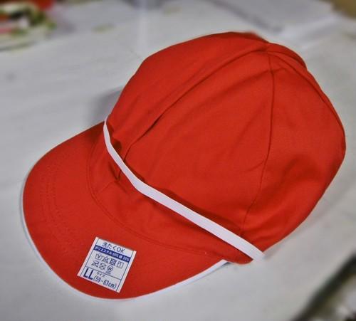 №30-0825 赤白帽:特大
