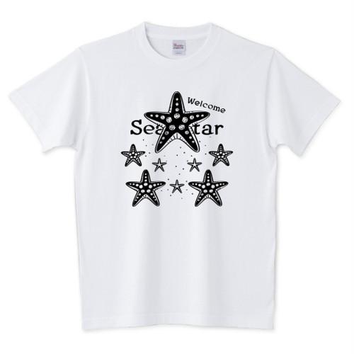 CT139 Welcome!ヒトデ*A / 5.6オンスTシャツ (Printstar)