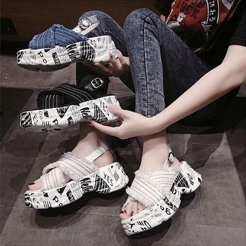 スポーツサンダル 厚底 6.5cm クロスベルト ダットソール スポサン 韓国ファッション レディース サンダル アンクルストラップ 厚底サンダル 厚底 かわいい 歩きやすい
