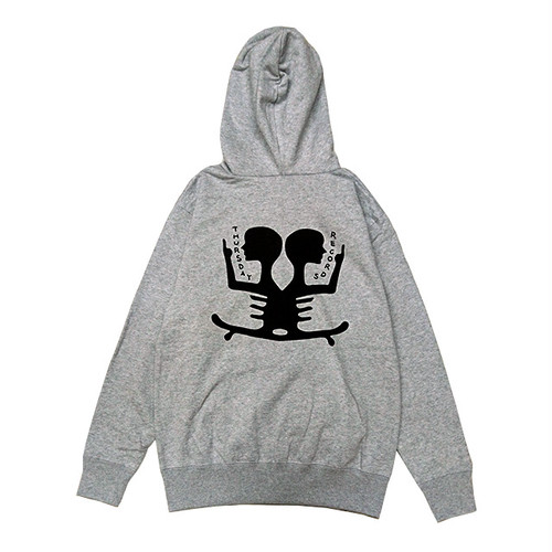 THURSDAY - THURSDAY RECORDS ZIP HOODIE (Grey)