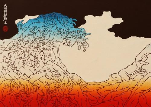 [絵画|Artworks] 三十三応現身波図 -明日への精神- 08