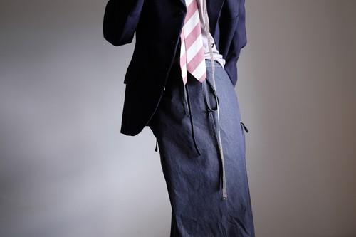 エプロンラップパンツ / コットン シャンブレー【 インディゴ 】/ apron wrap pants / cotton chambray【 indigo 】