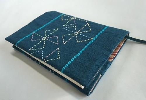 刺し子 文庫本サイズブックカバー