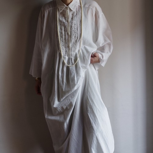 Cotton Shirt Dress / コットン シャツ ワンピ / 白シャツ ドレス