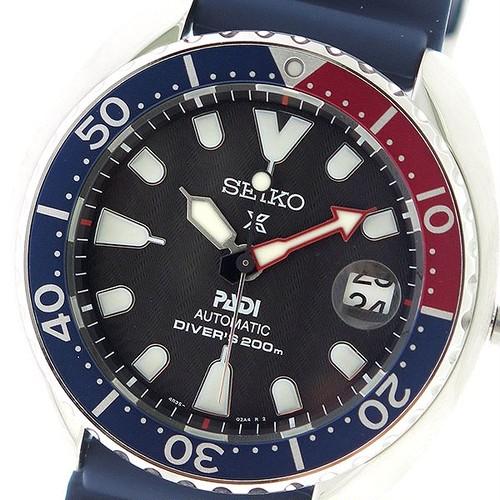 セイコー SEIKO プロスペックス PROSPEX 自動巻き メンズ 腕時計 SRPC41K1 ブラック/ネイビー ブラック