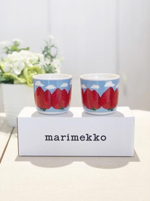 【再入荷】marimekko (マリメッコ)/ ラテマグセット/Mansikkavuoret (マンシッカヴオレット/イチゴの山)/70784