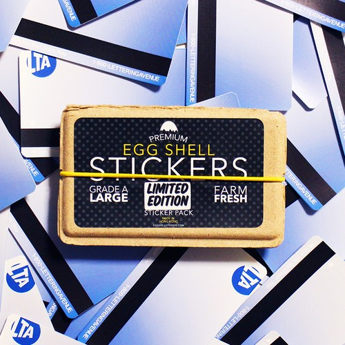 EGGSHELL STICKERS LETTERING AVENUE LIMITED EDITION 20pcs