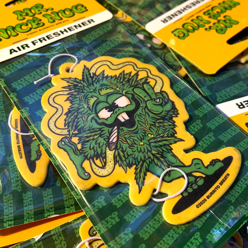 """Mr. Nice Nug"" Air Freshener by Burrito Breath x Zap Cables"