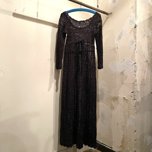 70s Knit Dress / USA