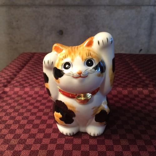 九谷焼 招き猫 三毛猫
