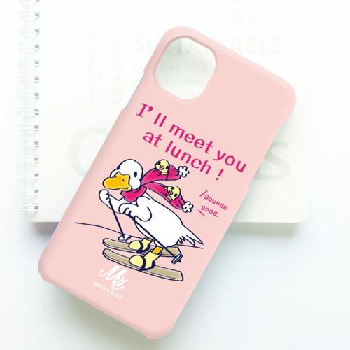 A*側面(3D)印刷*スマートフォンケース*あひるのおひるさんのスキー*8HSCT75*ピンク
