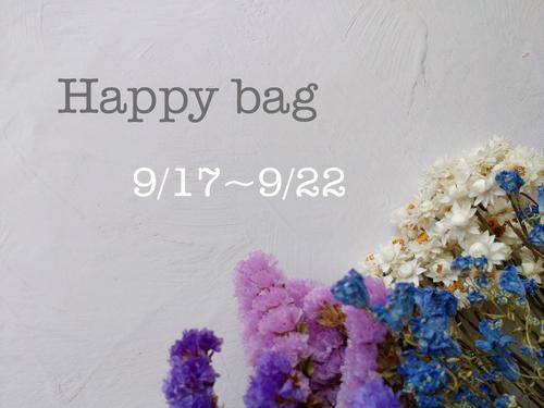 happy bag 9/17~9/22