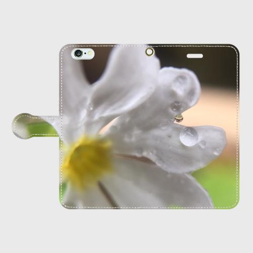 iPhone6Plus/6sPlus 手帳型スマホケースPrimrose & Drop of water