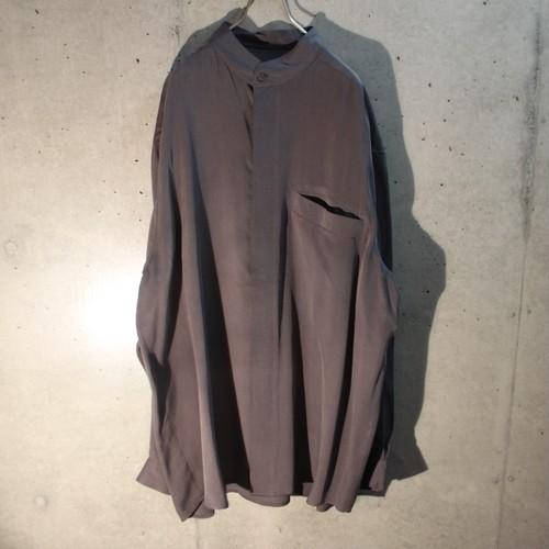 Silk Band Collar Shirt