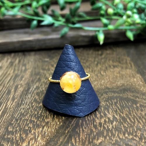 オルゴナイトリング 指輪 アラゴナイト  真鍮 フリーサイズ