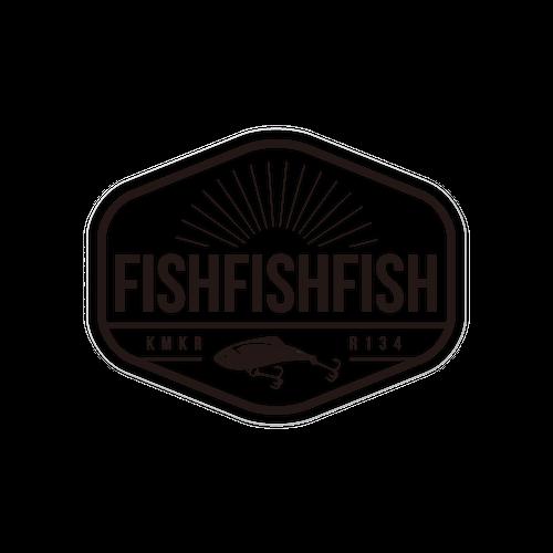 FISHFISHFISH ロゴ・クリアステッカー