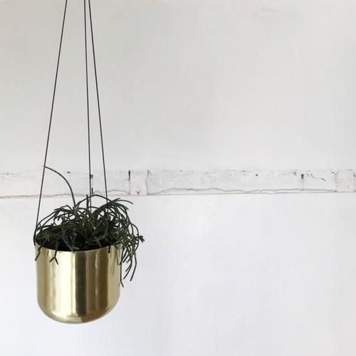 再入荷!Raakel Hanging pot / Gold   ハンギングプランター・鉢カバー