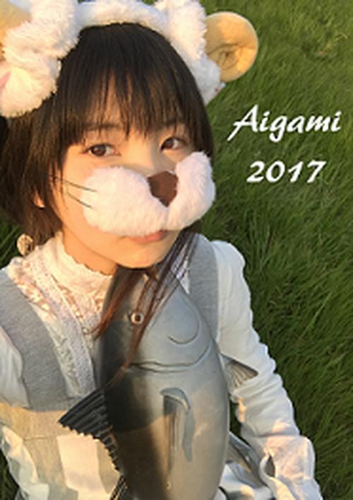 【12月中50%OFF】藍上ポスター2017 (たて長デザイン) A2サイズ