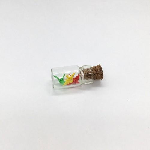 1cm折り鶴(ビン入り・赤黄緑)