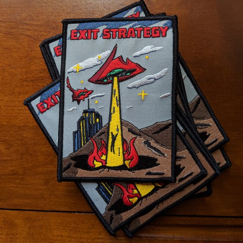 """MajorCrimesDivision""""Exit Strategy UFO patch"""""""