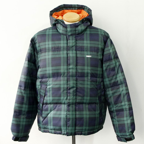 【OBEY】FELLOWSHIP PUFFER JACKET (CHECK)