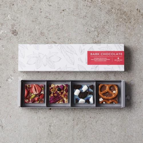 【HI-CACAO】<春ギフト>バークチョコレート - 4種アソートボックス - 【チョコレート】【ハイカカオ】【贈り物】【ギフト】【ご褒美チョコ】