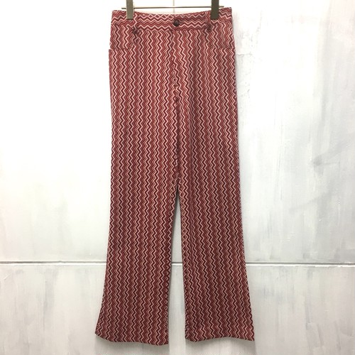 jaggy line flare pants