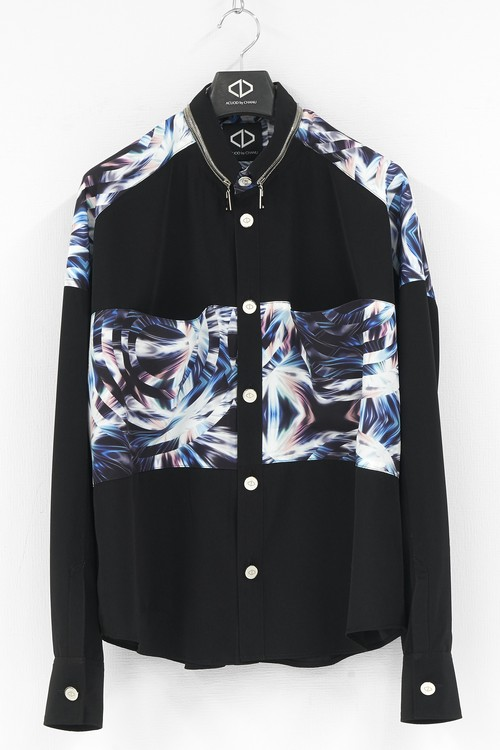 [Panel Pocket Button Shirts / Black&Print]  ※20AW COLLECTION PRE-ORDER