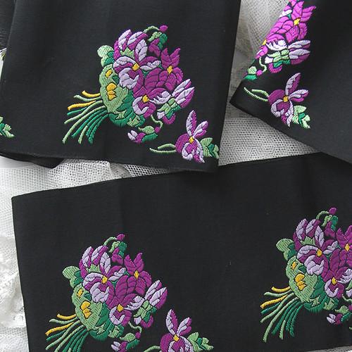 アンヴァンテール 1930〜40年頃スミレ刺繍のリボン[B]