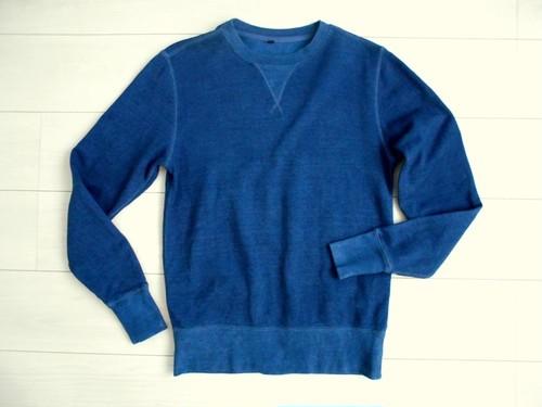 ◆天然灰汁発酵建て 本藍染◆ オーガニックコットン100%使用 トレーナー
