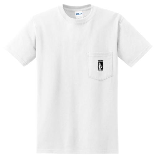 レーベルロゴ刺繍TEE(白)