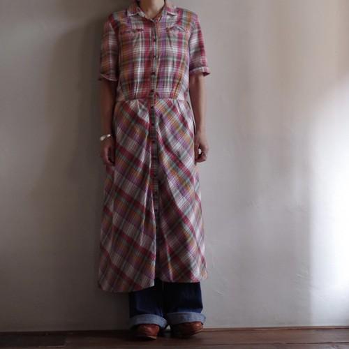 Western Style Plaid Dress / ウエスト スタイル チェック ドレス