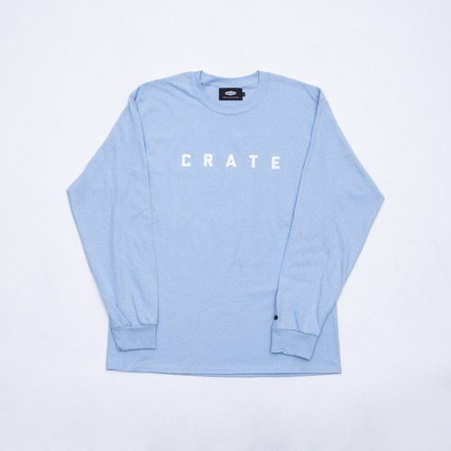 Crate Simple Logo L/S Tee LightBlue