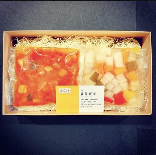 色々野菜のトマト煮込み & ピクルス盛り合わせ